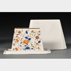 Wedgwood Pearlware Wedge-shaped Jelly Core and Cover