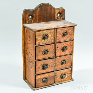 Mixed Hardwood Eight-drawer Hanging Spice Box