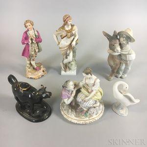 Six Ceramic Figures