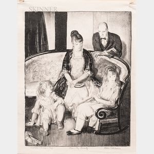 George Bellows (American, 1882-1925)      My Family, Second Stone