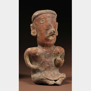 Nayarit Painted Female Pottery Figure