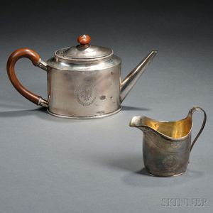 Two Pieces of English Sterling Silver Hollowware