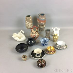 Fifteen Pottery and Ceramic Items