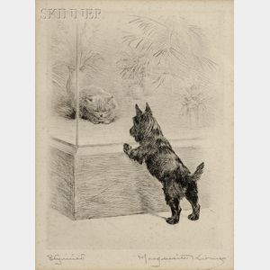 Lot of Two Dog Prints:      Marguerite Kirmse (American, 1885-1954), Stymied;