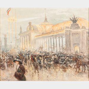 Carlos Perez (Spanish, 1853-1929)      Paris Exposition Universalle Scene by Grand Palais