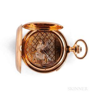 18kt Gold Hunter-case Erotica Quarter-hour Repeating Watch