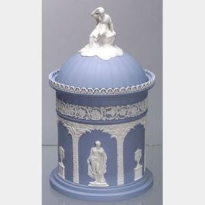 Wedgwood Solid Light Blue Jasper Humidor and Cover