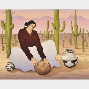 R.C. (Rudolph Carl) Gorman (American, 1932-2005)      Saguaro