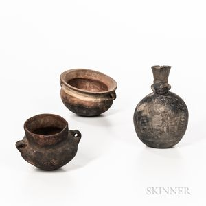 Three Pre-Columbian Pottery Vessels