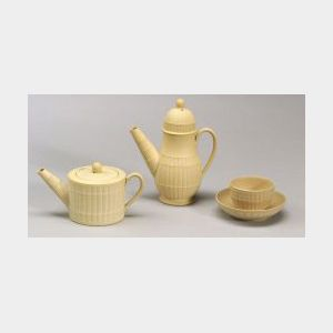 Three Wedgwood Caneware Toy Tea Wares