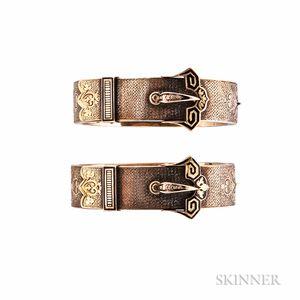 Pair of Victorian Gold Bracelets