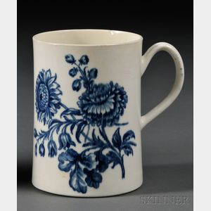 Worcester Blue Transfer-printed Porcelain Mug