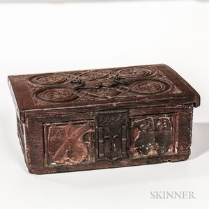 Gothic-style Oak Bible Box