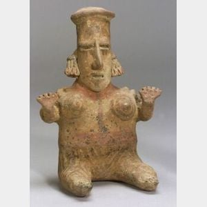 Pre-Columbian Painted Pottery Figure