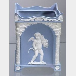 Wedgwood Solid Light Blue Jasper Bough Pot