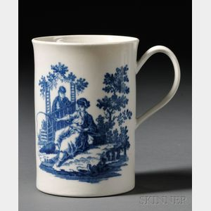 Worcester Porcelain Blue Transfer-printed Mug