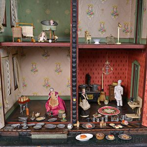 Assortment of Dolls and Dollhouse Accessories