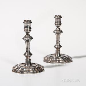 Pair of George II Sterling Silver Candlesticks