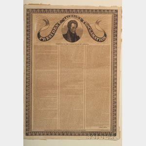Jackson, Andrew (1767-1845), Broadside