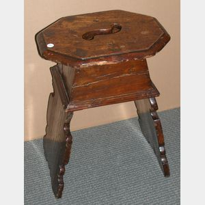 Continental Baroque Walnut Stool