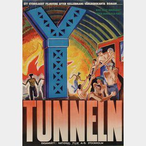Bengt Rumert  (Scandinavian, 20th Century)      Tunneln