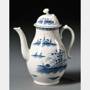 Worcester Porcelain Rock Strata   Pattern Coffeepot and Cover