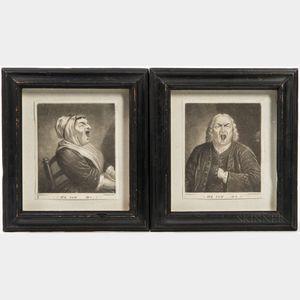 Pair of Mezzotint Prints Heigh Ho