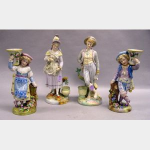 Two Pairs of German Porcelain Figures.