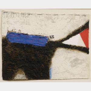 James Coignard (French, 1925-2008)      Espace dynamique bleu