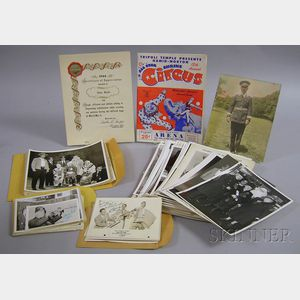 Collection of 1940s and 50s Shriner's Circus Related Photographs