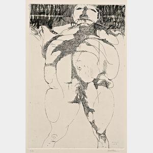 Leonard Baskin (American, 1922-2000)      Lot of Two Images:  Torso