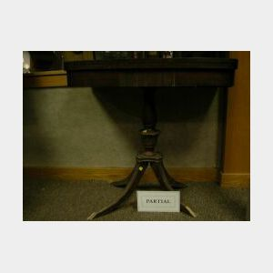 Two Federal and Regency Style Mahogany Veneer Card Tables.