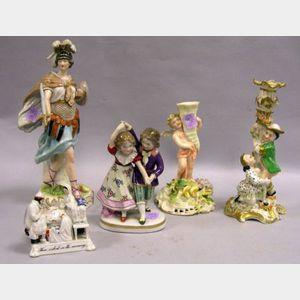 Five Assorted Porcelain Figural Items