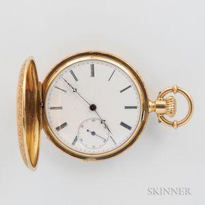 Ducommun 18kt Gold Hunter-case Watch