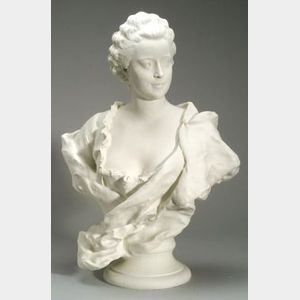 Large Sevres Parian Bust of Madame de Pompadour