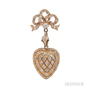 Antique Gold and Diamond Locket
