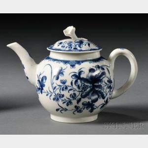 Worcester Porcelain Mansfield   Pattern Teapot and Cover