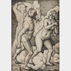 Hans Sebald Beham (German, 1500-1550)      Adam and Eve Expelled from Paradise