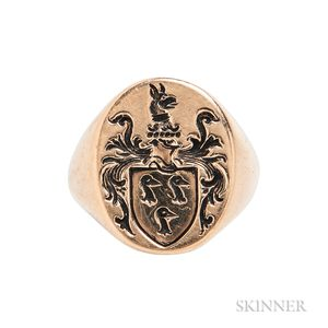 14kt Gold Seal Ring
