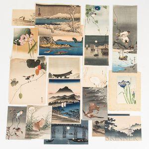 Ninety-three Matsumoto Japanese Woodblocks