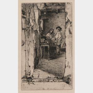 James Abbott McNeill Whistler (American, 1834-1903)      Rag Pickers, Quartier Mouffetard, Paris