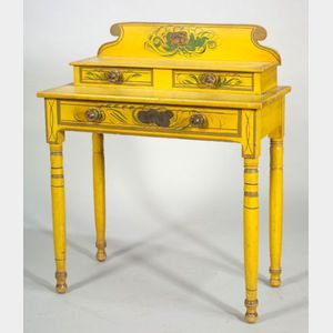 Yellow Fancy Painted Dressing Table