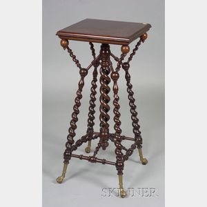 Late Victorian Brass-mounted Mahogany Stand