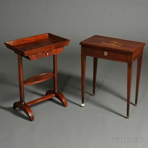 Two Mahogany Side Tables
