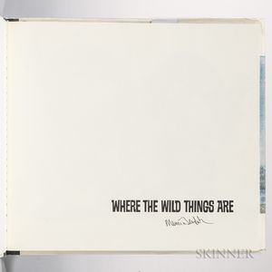Sendak, Maurice (1928-2012) Where the Wild Things Are  , Signed Copy.