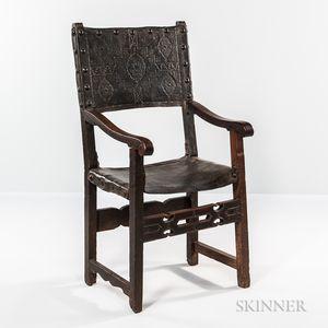 Renaissance-style Walnut Armchair