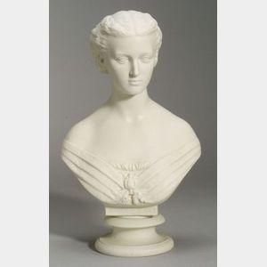 Copeland Parian Bust of Alexandra