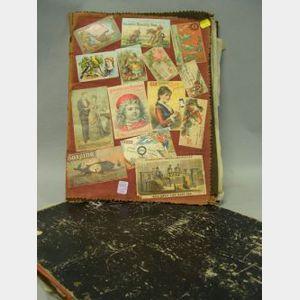 Two Late 19th Century Scrapbooks
