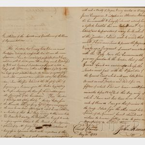 Hancock, John (1737-1793), and Gerry, Elbridge (1744-1814)