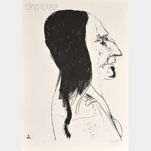 Leonard Baskin (American, 1922-2000)      Sitting Bull